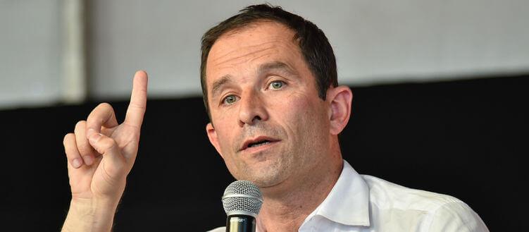 Réaction d'un militant à la victoire de Benoît Hamon