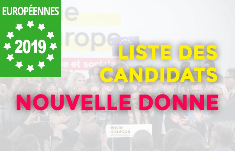 Candidats Nouvelle Donne aux élections européennes