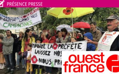"""""""Maire de Langouët au tribunal pour son arrêté anti-pesticides : des soutiens et un bémol"""" par Ouest France"""