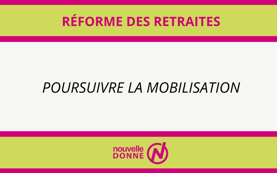 Réforme des retraites : nous choisissons la solidarité !