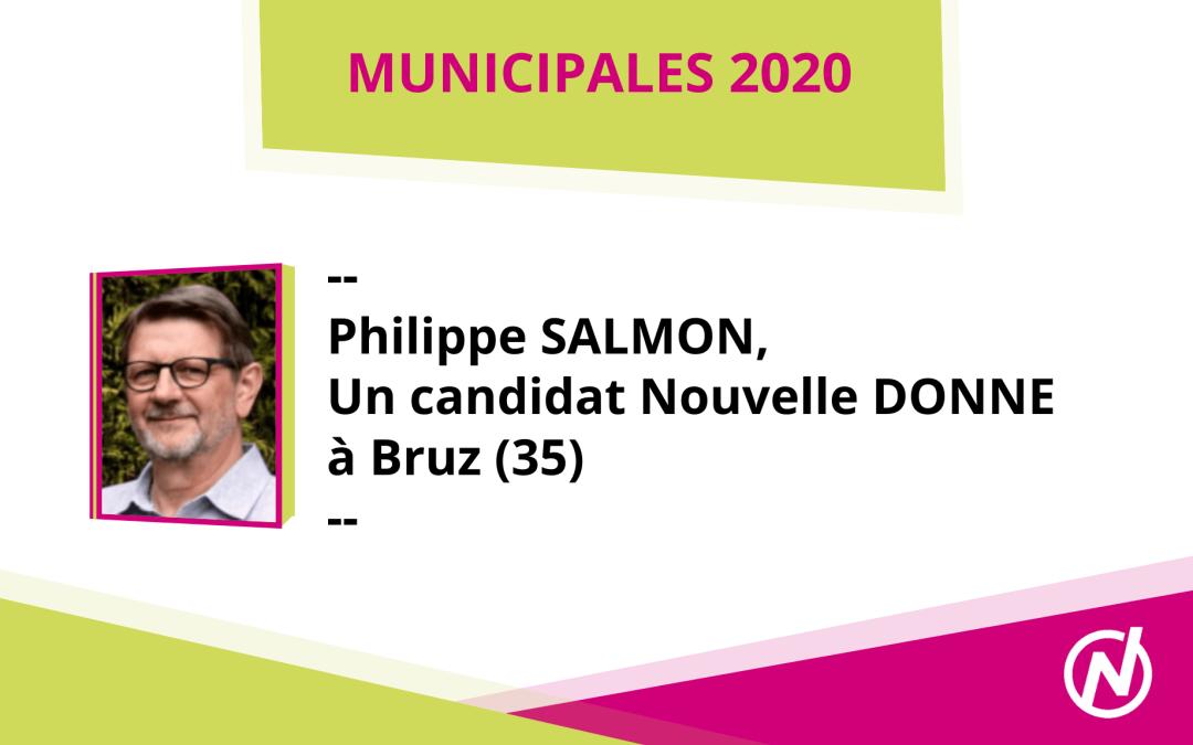 Philippe Salmon, tête de liste à Bruz (35)