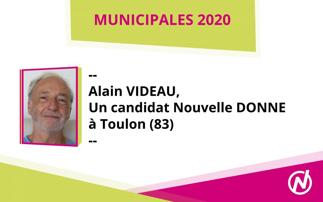 Alain VIDEAU – Candidat – Municipales 2020 – Toulon