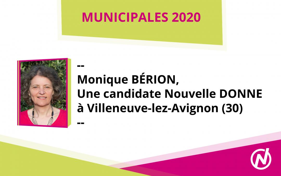 Monique BÉRION – Candidate – Municipales 2020 – Villeneuve-Lèz-Avignon
