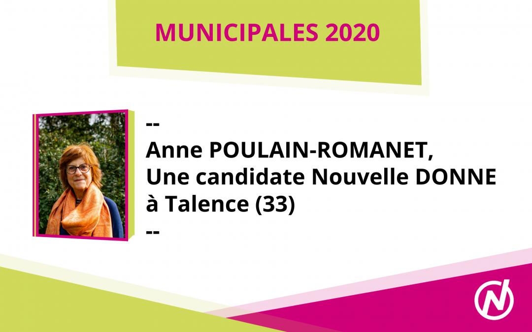 Anne POULAIN-ROMANET – Candidate – Municipales 2020 – Talence