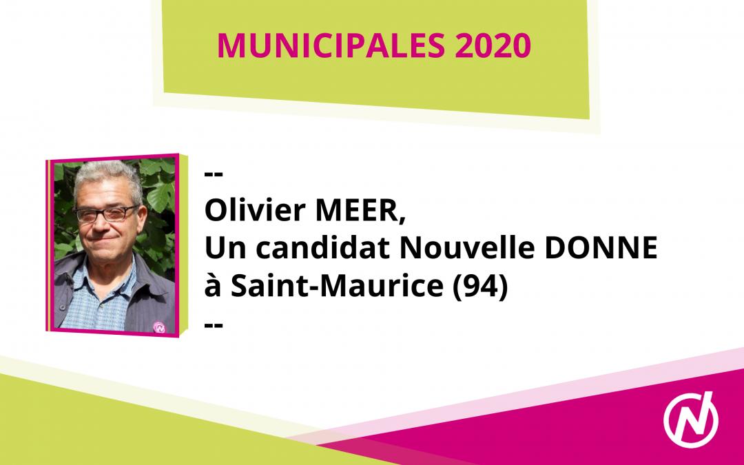 Olivier MEER – Candidat – Municipales 2020 – Saint-Maurice