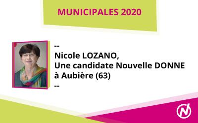 Nicole LOZANO – Candidate – Municipales 2020 – Aubière