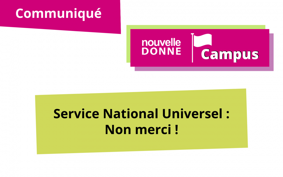 [ND Campus] Service National Universel : non merci !