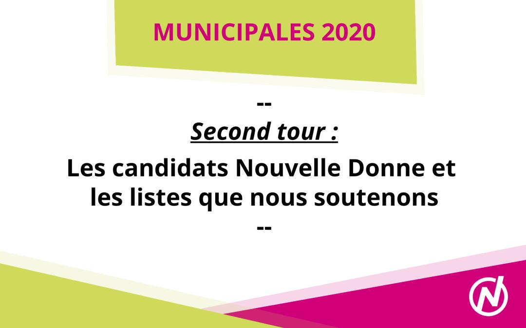 [Municipales – 2nd tour] Les listes et les candidats Nouvelle Donne