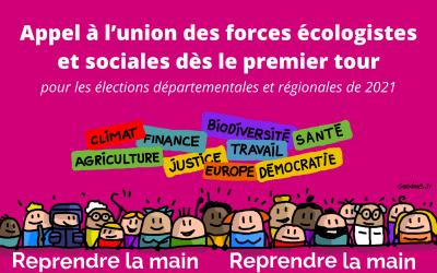 Appel à l'union des forces écologistes et sociales
