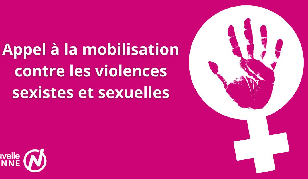Appel à la mobilisation contre les violences sexistes et sexuelles