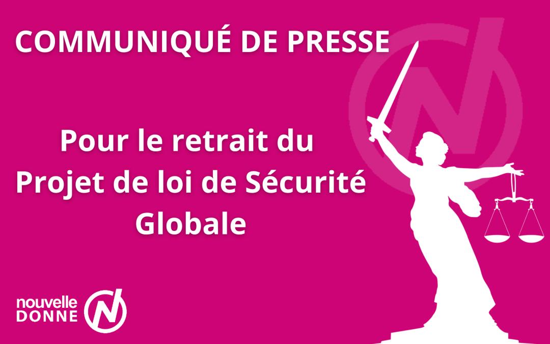 Pour le retrait du Projet de loi de Sécurité Globale