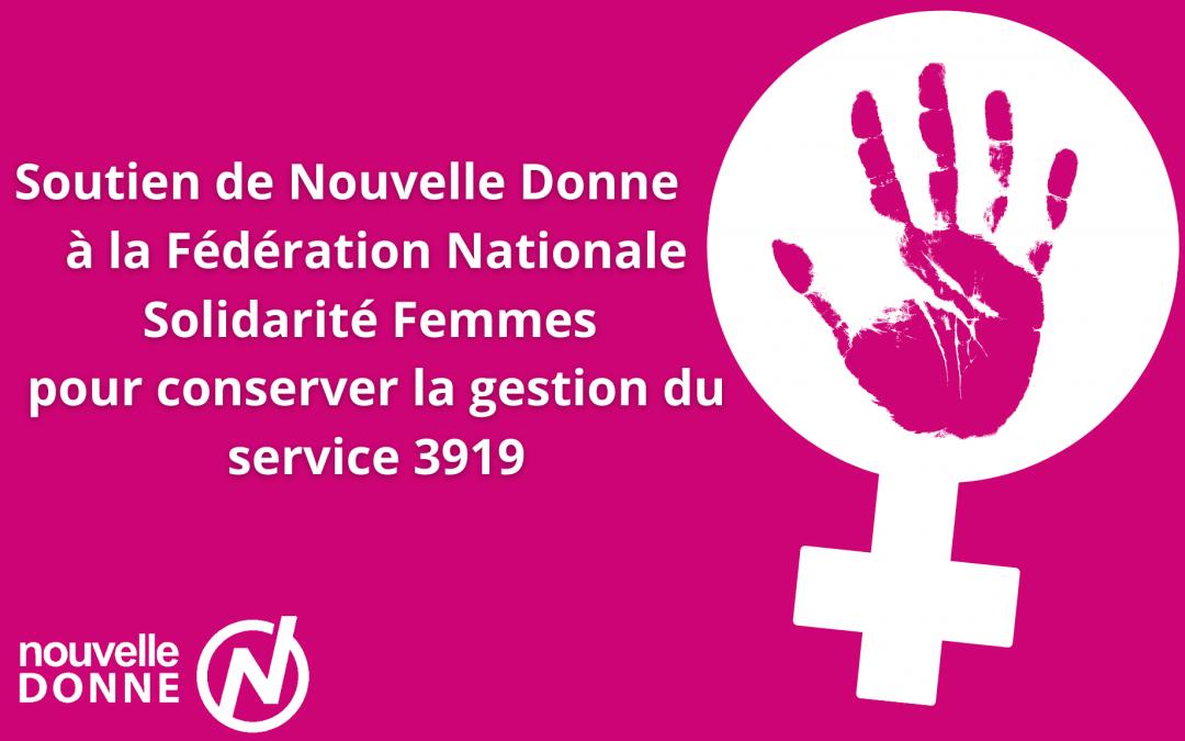 Soutien à la Fédération Nationale Solidarité Femmes pour conserver la gestion du service 3919