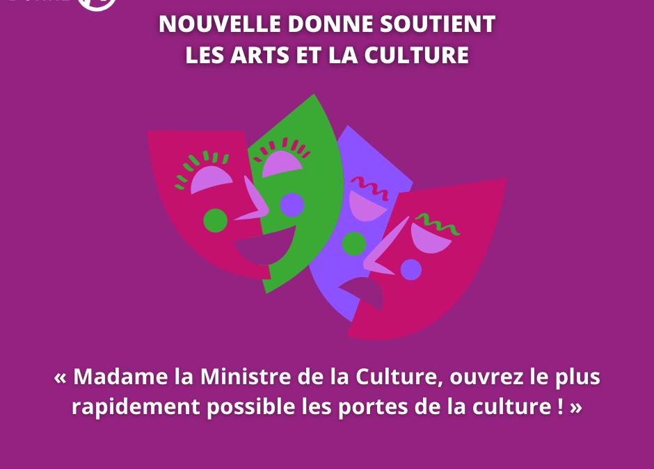 Nouvelle Donne soutient les arts et la culture