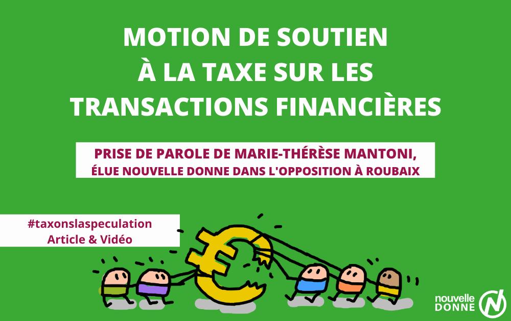 """Marie-Thérèse Mantoni : """"Vœux pour la création d'une taxe européenne sur la spéculation"""""""