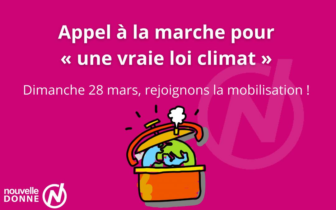 Loi Climat : Nouvelle Donne soutient la mobilisation et appelle ses militants à y participer