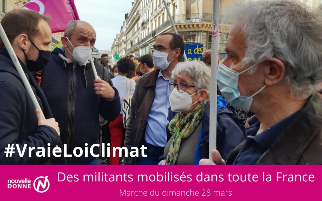 [En images] Les militants de Nouvelle Donne ont marché pour une vraie loi Climat