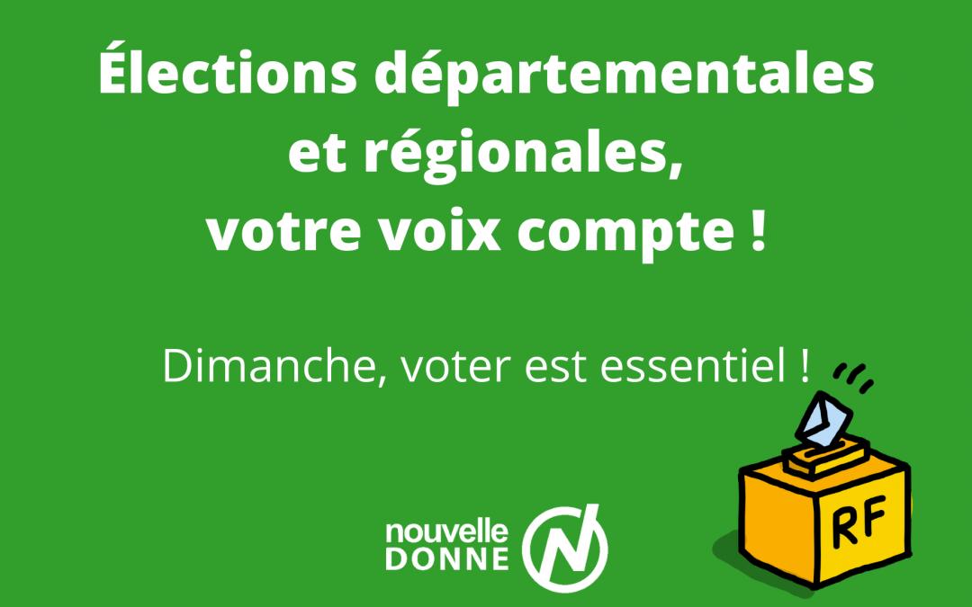 Élections : les listes des régionales et les candidats aux départementales présents au second tour