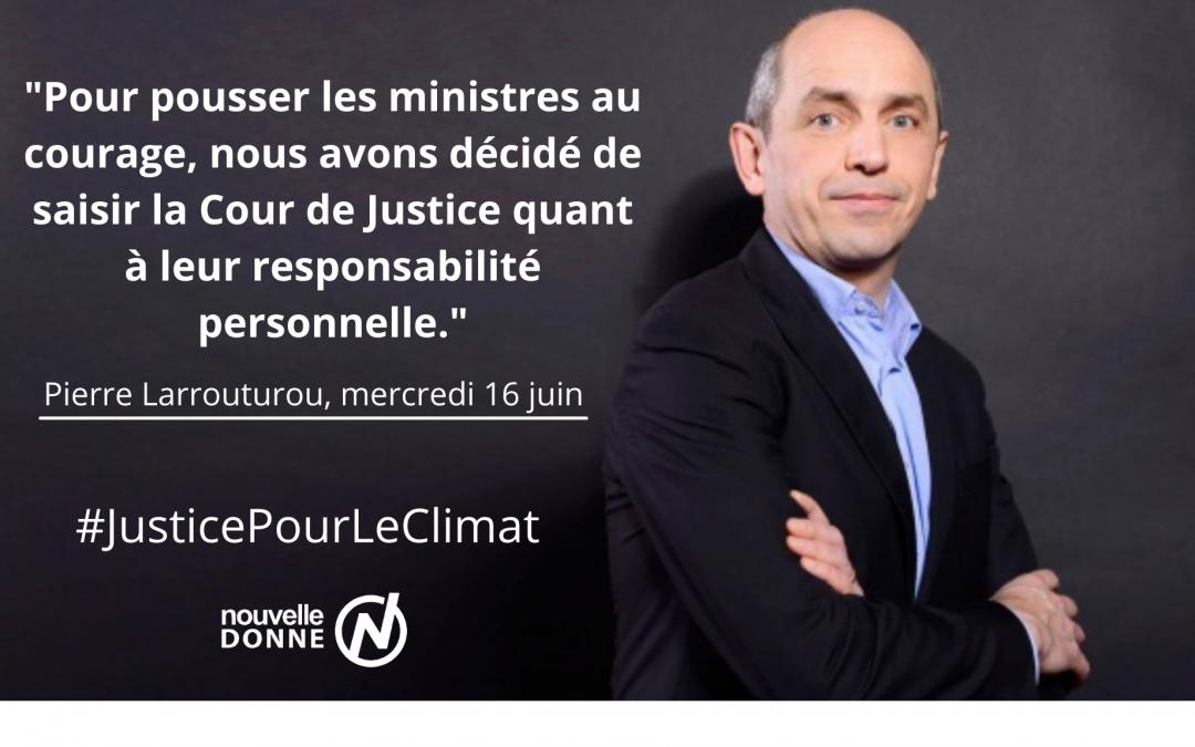 [Exclusif] : Pierre Larrouturou co-dépose plainte contre 5 ministres pour inaction climatique