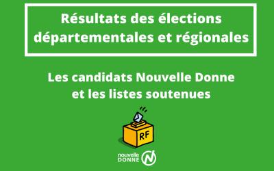 Second tour des élections : résultats des candidats Nouvelle Donne et des listes soutenues